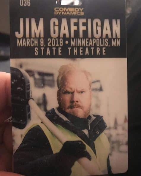 comedian jim gaffigan state theater