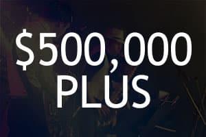 $500,000+