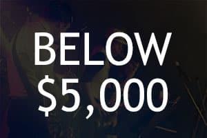 Below $5,000